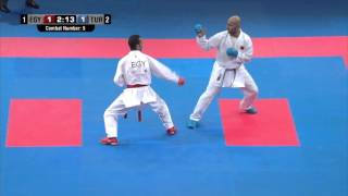Male Team Kumite TURKEY vs EGYPT (5/5).  2014 World Karate Championships. Bronze Medal Fight