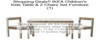 Ikea Children's Kids Table & 2 Chairs Set Furniture (1) Review
