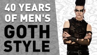 40 Years of Men's Goth Style (in under 5 minutes)