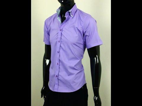 Стильная мужская рубашка с коротким рукавом La Querre Арт.4001-1