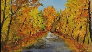 Free Oil Painting Lessons Country Lane Impressionism painting Part 2