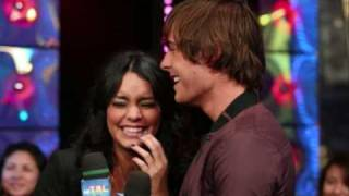 Zac Efron and Vanessa Hudgens Waltzing on Mtv's TRL