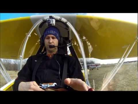 Kolb Firefly Maiden Flight with Pilot Audio & 3 Camera Angles