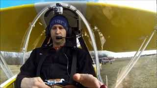 Kolb Firefly Maiden Flight with Pilot Audio & 3 Camera Angles