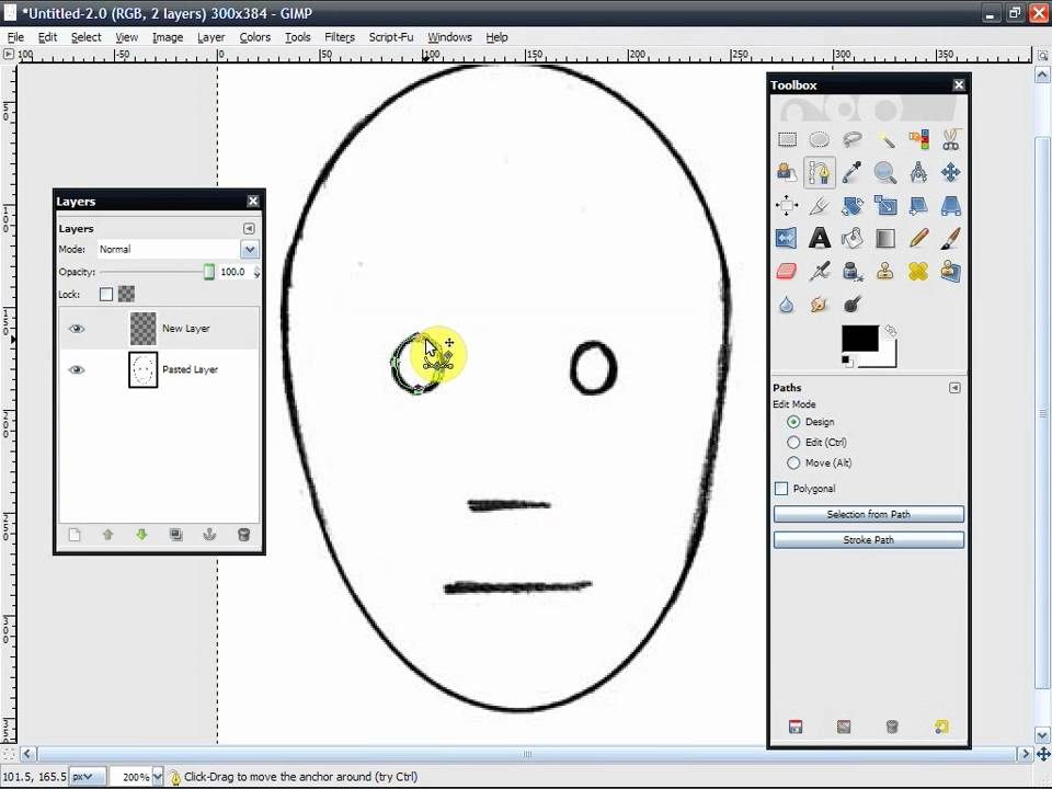 Line Drawing Gimp : How to make lineart using the path tool in gimp youtube