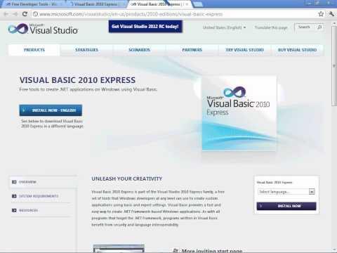 VB.NET Tutorial 1 - Downloading Free VB.NET (Visual Studio)