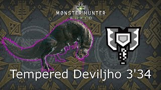 """MHWorld: Tempered Deviljho [歴戦イビルジョー]  3'34""""60 Charge Blade Solo [Capture]"""