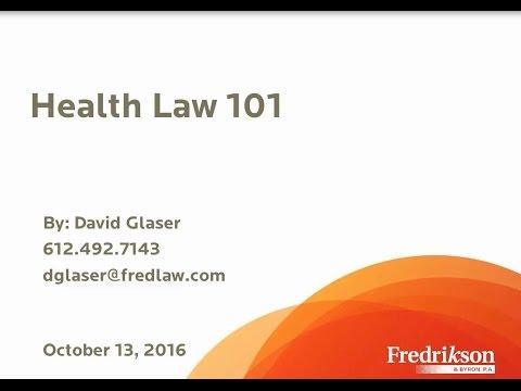 Health Law 101