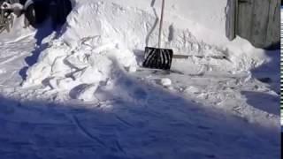 Моя новая лопата для снега своими руками 2017 г.