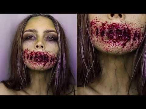Грим на Хэллоуин   Halloween Tutorial   Самый страшный макияж   Halloween Makeup