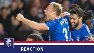 REACTION | Scott Arfield | Rangers 3-1 Rapid Vienna
