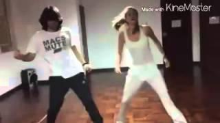 Stephanie Cayo y Macs bailando Back It Up