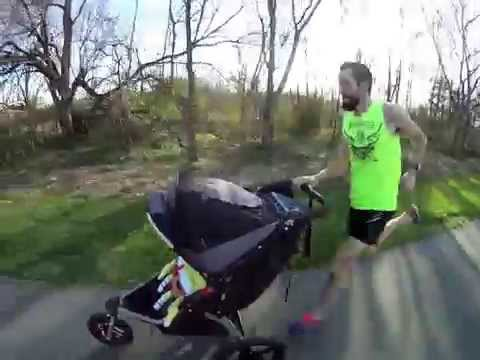 Jogging Stroller World record | 1 mile in 4 minutes 23 secs