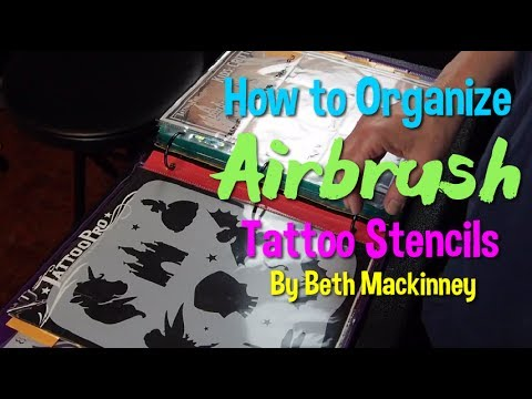 How to Organize Airbrush Tattoo Stencils - YouTube