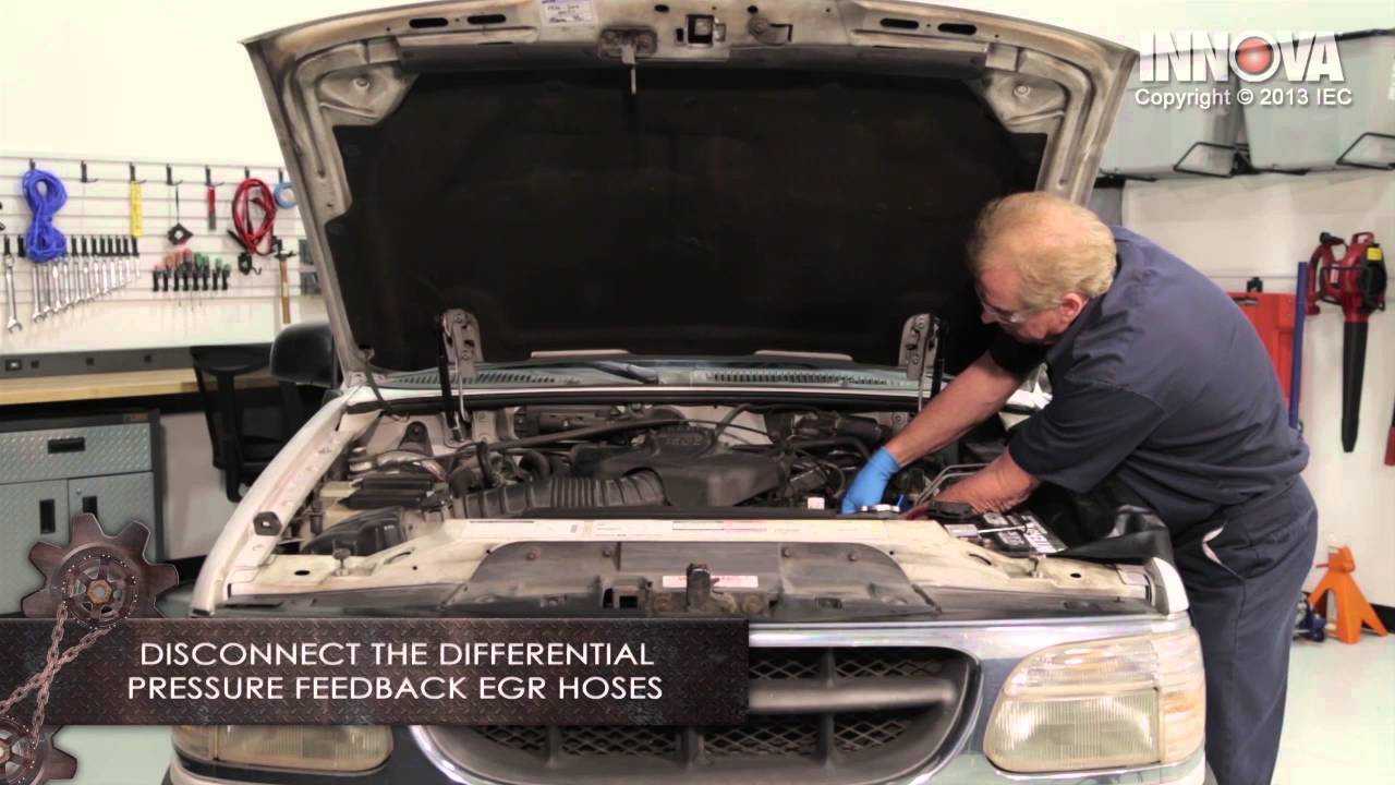 how to change differential pressure feedback egr dpfe sensor 1998 ford exporer youtube [ 1280 x 720 Pixel ]