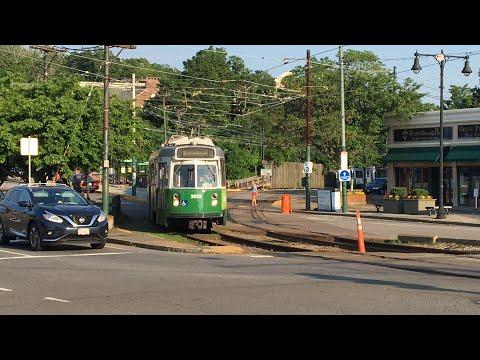 MBTA Green Line Ride Boston College Branch