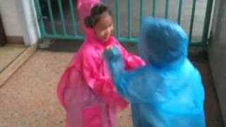 Red and Blue RainCoat