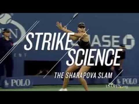How fast can Maria Sharapova hit a forehand? Us Open 2014