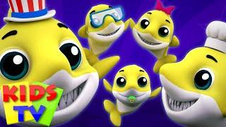 Shark Finger Family | Shark Song | Baby Songs | Nursery Rhymes | Kids Rhymes | Kids Tv Cartoon Video