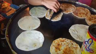 Masala Paratha Street Food Of Karachi, Pakistan.