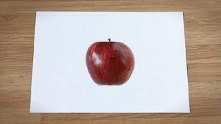 Como desenhar uma maçã : Como desenhar frutas