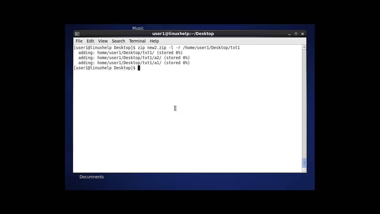 ZIP command in Linux with Examples | LinuxHelp Tutorials