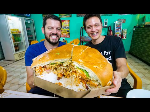 5 KG MONSTER SANDWICH - Brazilian Food Tour in Curitiba Brazil