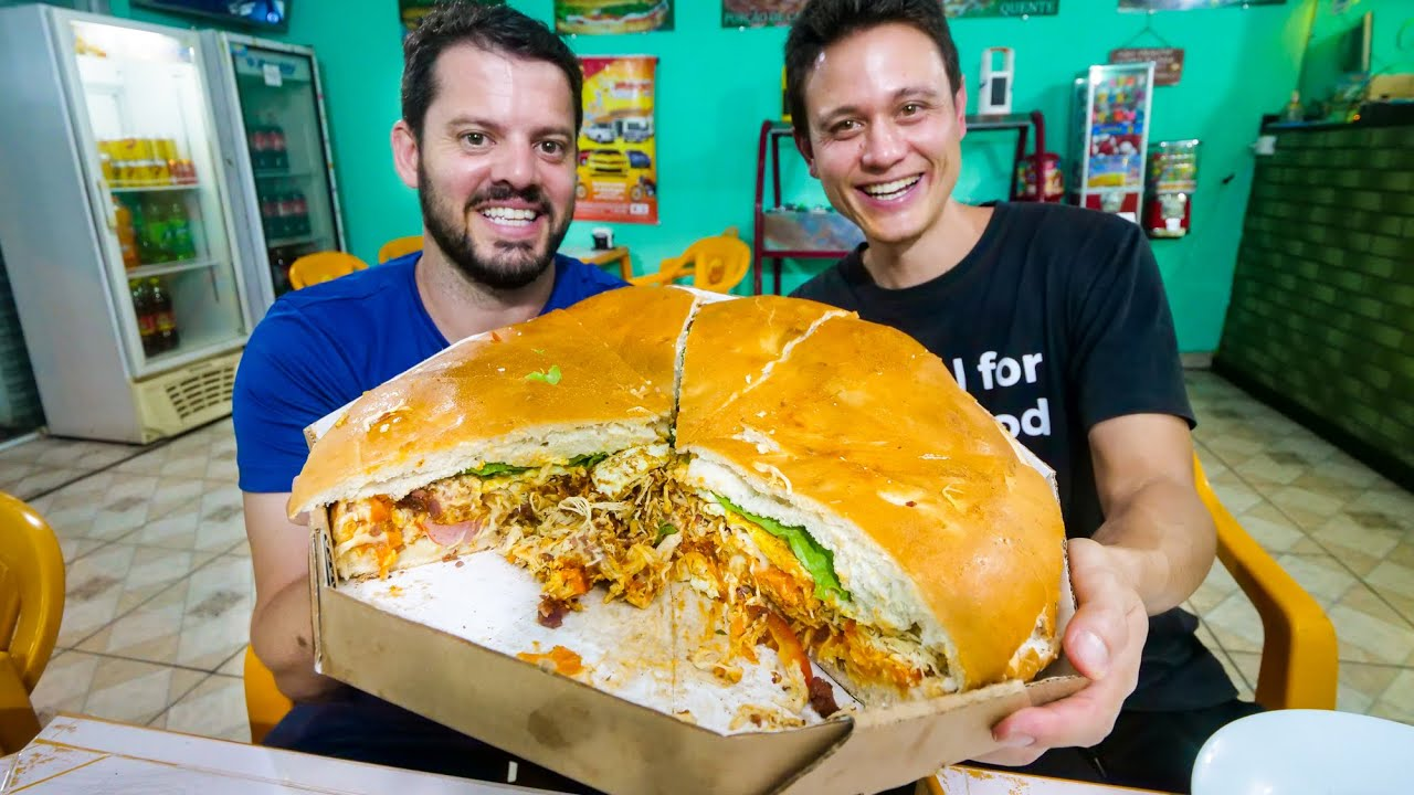 5 KG. MONSTER SANDWICH - Brazilian Food Tour in Curitiba, Brazil!