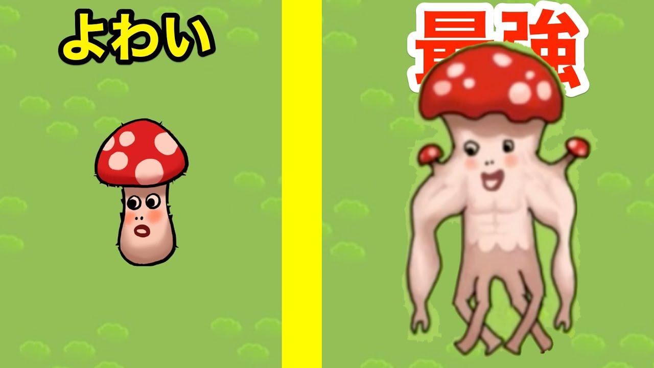 きのこを進化させていくゲームの最強の姿が面白すぎたww【キノコの突然変異】