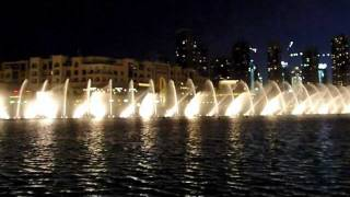 Burj Khalifa (Dubai)-Fountain Show- HD