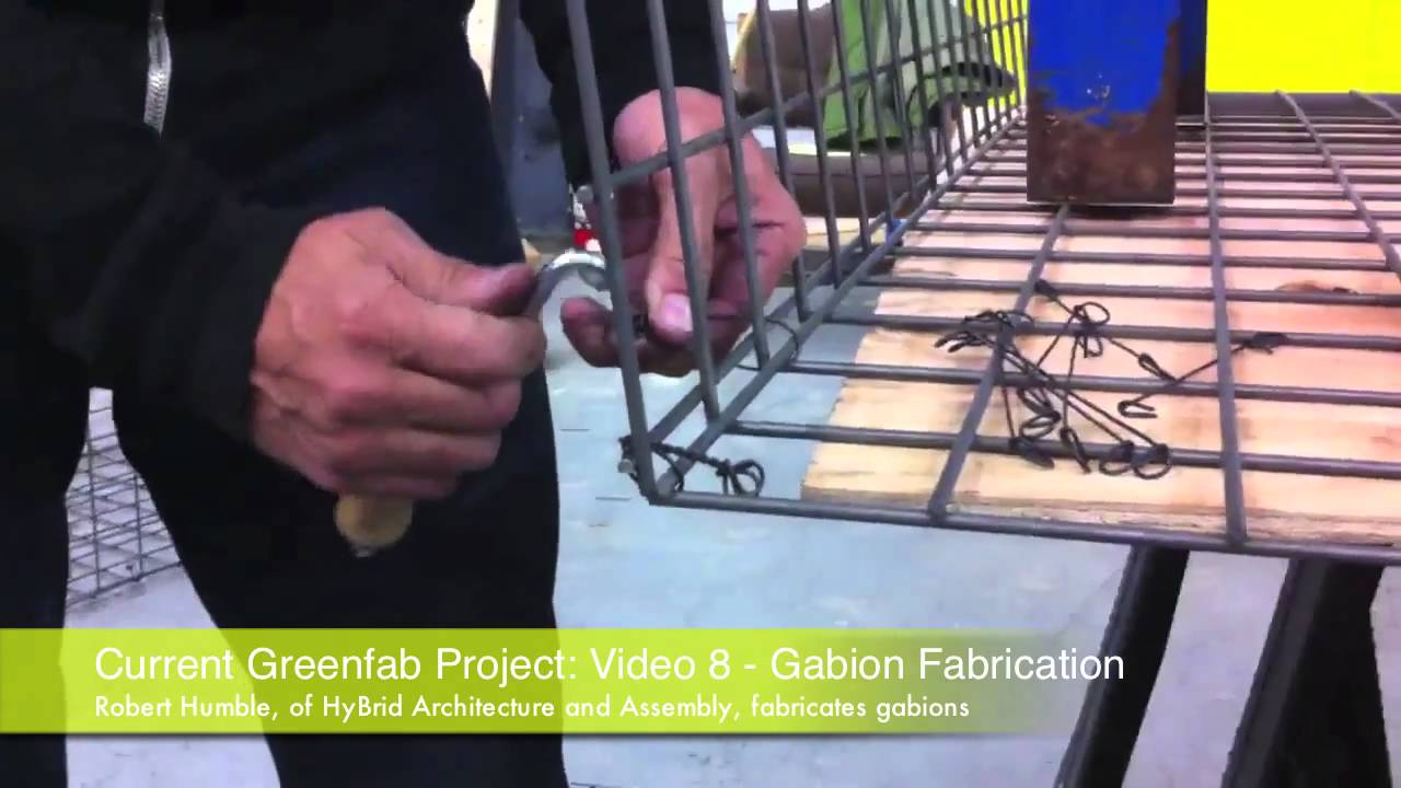 greenfab project video 8 gabion youtube. Black Bedroom Furniture Sets. Home Design Ideas