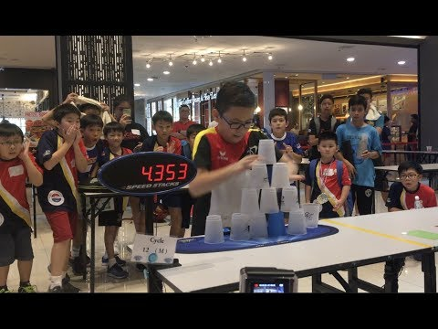 WSSA Malaysia Sport Stacking Tournaments Highlights 2017!