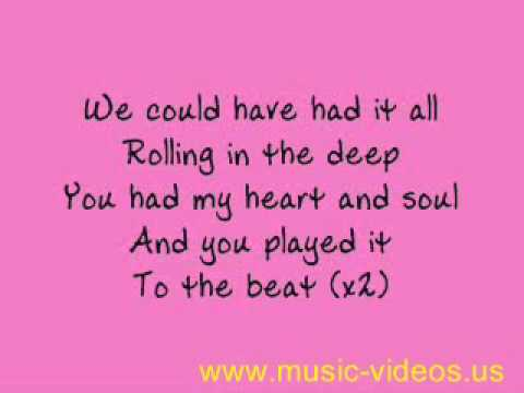 Letra de Adele   Rolling in the Deep