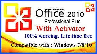 Gambar cover How to Download & Install MS Office 2010 with Activator. 100% working.MS Office 2010 Free download.