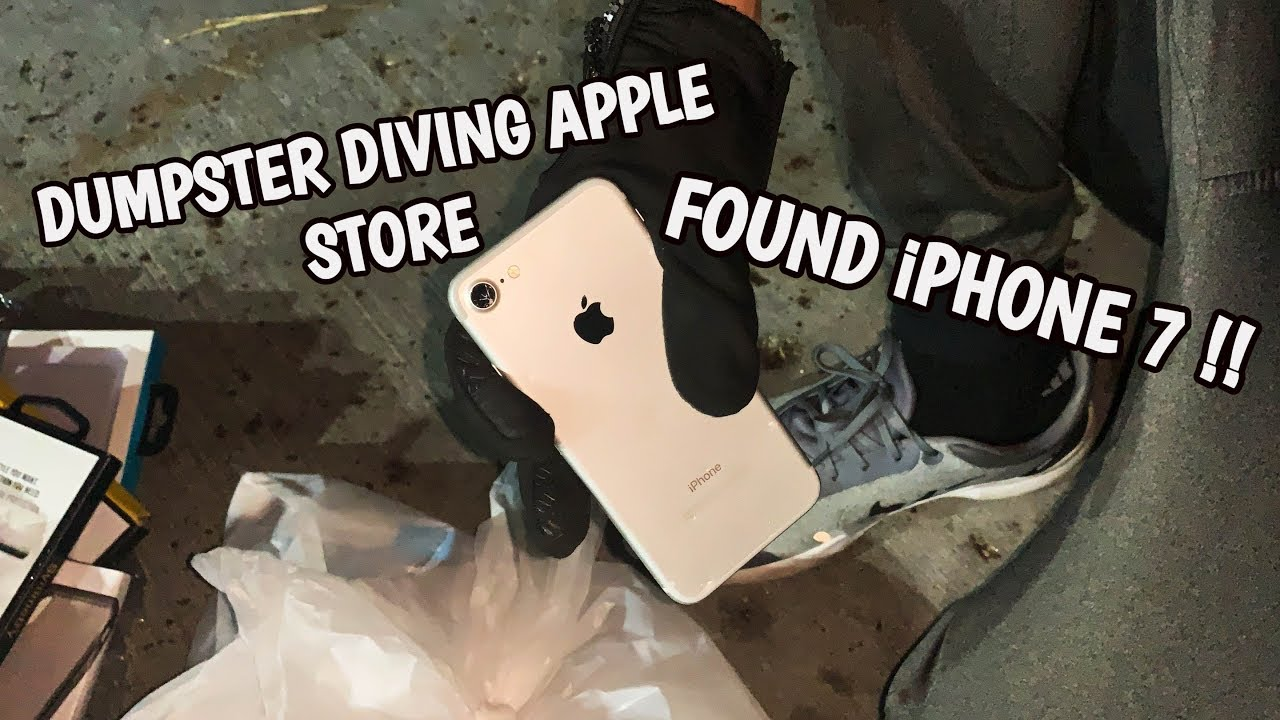 FOUND IPHONE 7 APPLE STORE DUMPSTER DIVING!! FREE IPHONE 7 FROM THE APPLE STORE!!