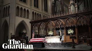 Funeral for former US president George HW Bush held in Houston, Texas - live