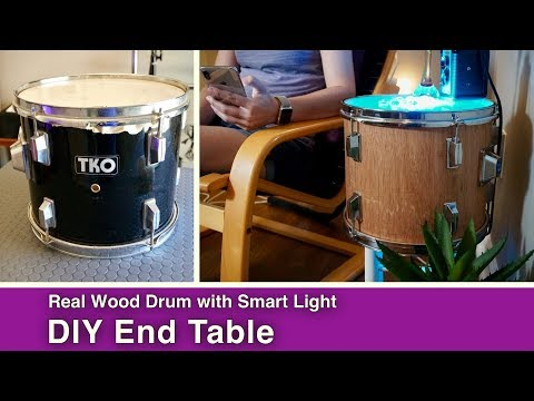 Musical Drum DIY with Smart Light End Table