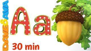 🤩phonics song 2 learn abcs and phonics nursery rhymes and abc songs for kids from dave and ava🤩