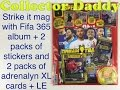 Strike it magazine with Fifa 365 album and 2 packets of stickers and 2 adrenalyn XL cards packs + LE