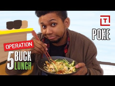 The Best Cheap Poke Bowl In NYC || 5 Buck Lunch