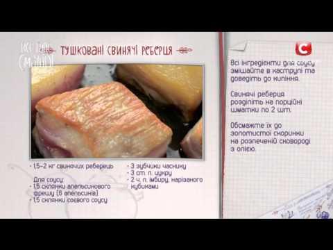 Тушеные ребрышки свиные рецепт