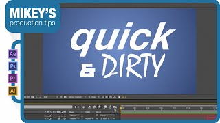After Effects Kinetic Typography motion graphics tutorial