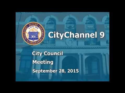 City Council Meeting (09-28-15)