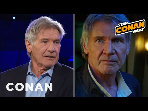 """Harrison Ford Wanted Han To Die In """"Return Of The Jedi"""" - CONAN on TBS"""
