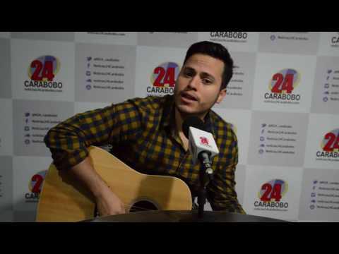 Alfonso Terán canta Tú en  Noticias24 Carabobo