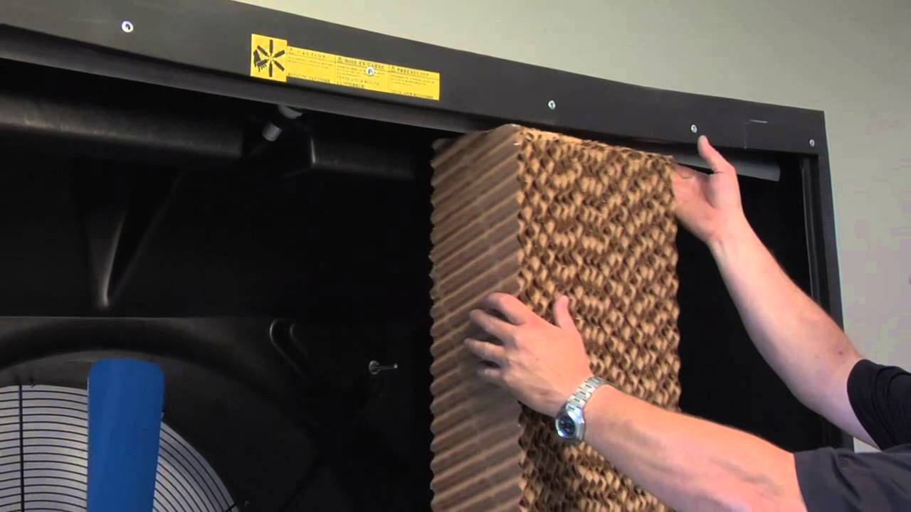 how to clean evaporative cooler pads
