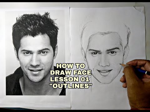 How To Draw A Face For Beginners Episode Lesson 01 - Outline Drawing Tutorial