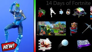 14 Days Of Fortnite - ALL 14 REWARDS!! (Emotes, Pets, Gliders, Wraps, and MORE!)