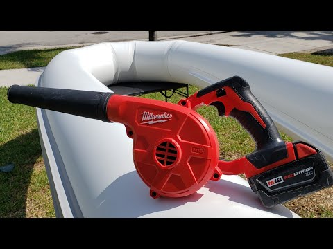 The fastest and easiest way to inflate a rib boat tube. (din