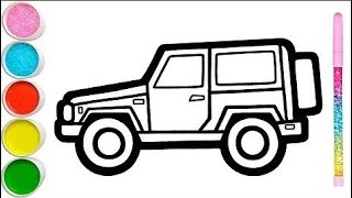 Jeep Drawing - CAR Drawing   how to draw Car by Computer Ms Paint